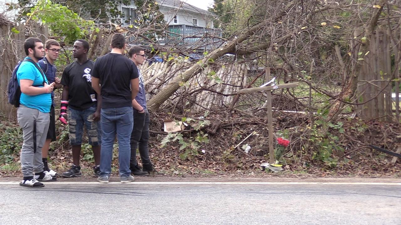 Video: At the scene of the Old Hopewell Road car crash