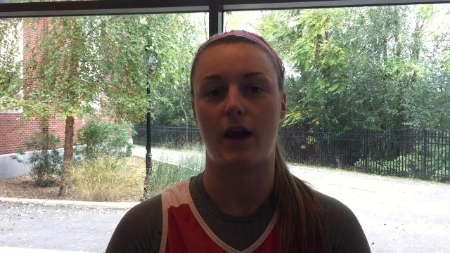 Allie Best, Allie Clement and coach Brian Giorgis of the Marist College women's basketball team discuss the team's point guard situation.
