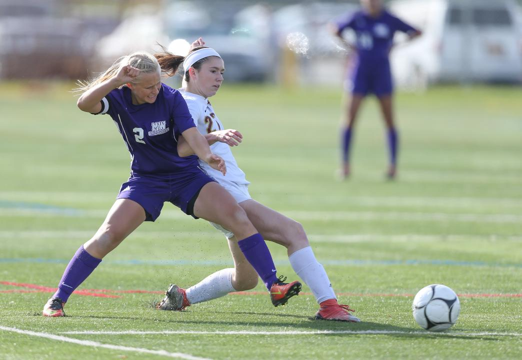 Game highlights of Arlington playing Monroe-Woodbury in the Class AA Region final soccer match.