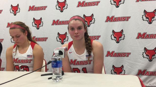 Willlow Duffell speaks about her first game as a member of Marist College's women's basketball team. The Red Foxes lost to Navy, 77-70, in their home opener Friday.