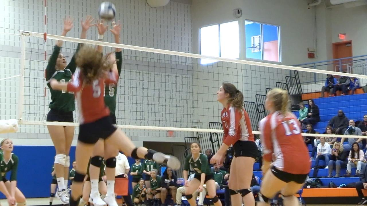 A few short clips from the Class B volleyball regional final between Spackenkill and Owego.