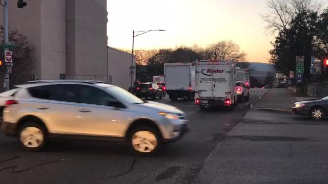 Traffic going toward the Mid-Hudson Bridge in the City of Poughkeepsie Monday. Video by Geoffrey Wilson/Poughkeepsie Journal