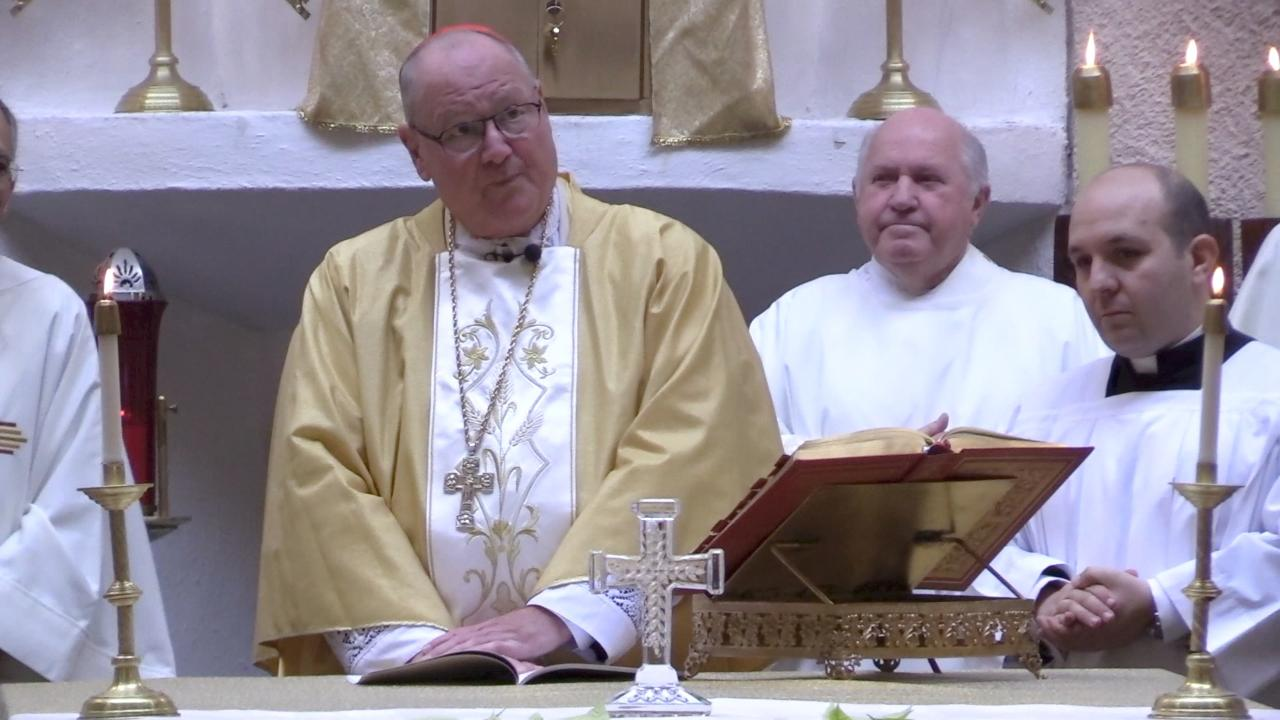 Cardinal Timothy Dolan visited Green Haven Correctional Facility to give mass for the 50th anniversary of St. Paul's Catholic Chapel.