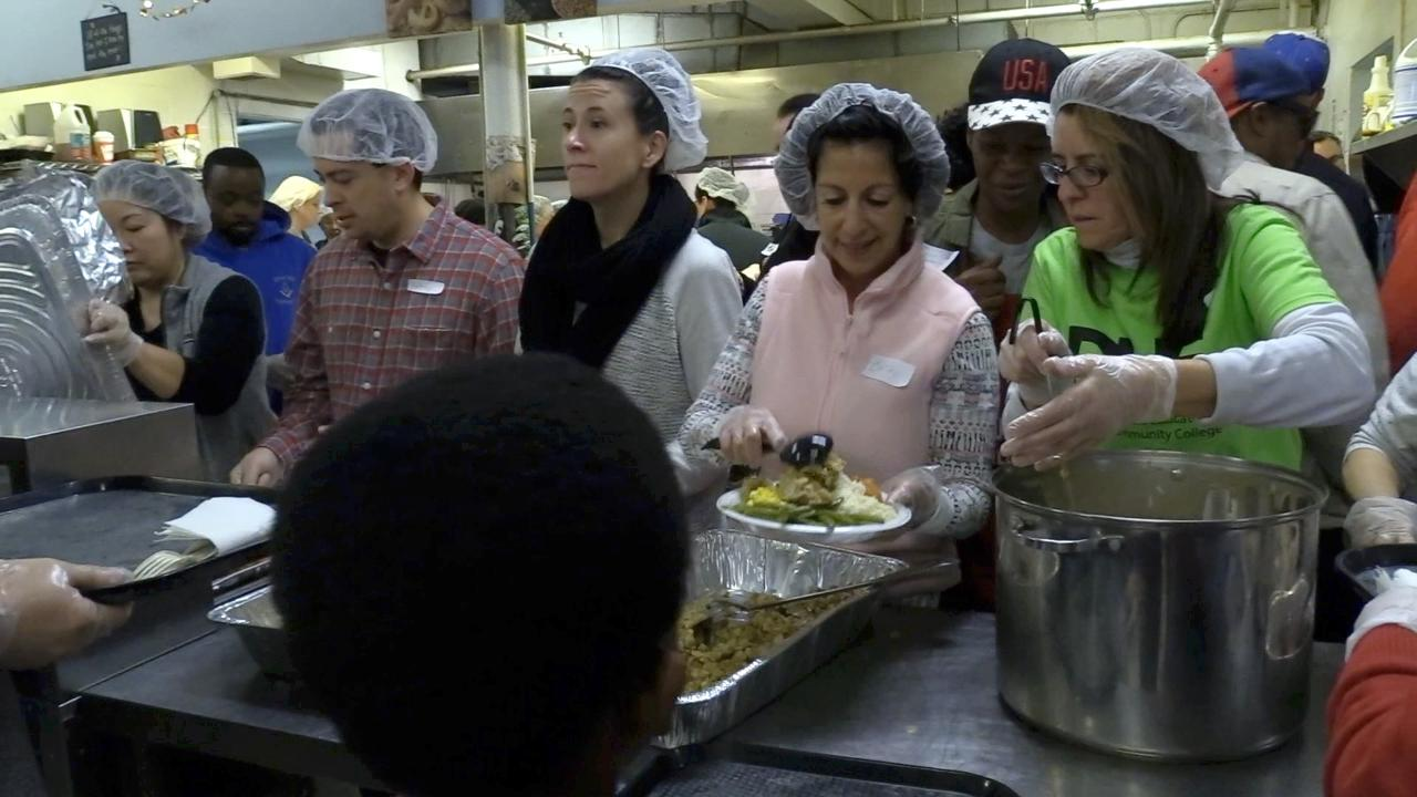 The annual Eileen Hickey Thanksgiving dinner at The Lunch Box continues to be a popular holiday destination, both for volunteers and those in need.