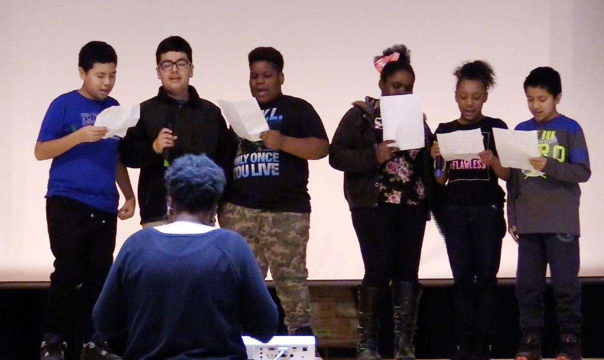 Rap performances, keynote speakers, and anti-bullying workshops were some of the featured attractions at the Poughkeepsie Middle Model School Family University Dec. 9, 2017. Frank Becerra Jr./Poughkeepsie Journal