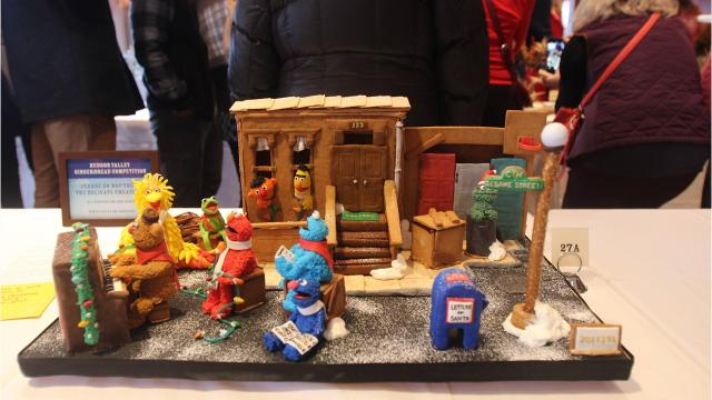 There were 67 entries at the second annual Hudson Valley Gingerbread Competition at the Mohonk Mountain House. People were encouraged to get creative with their submissions. Video by Jack Howland/Poughkeepsie Journal