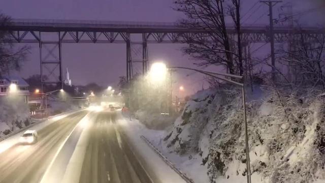 Snowfall in Poughkeepsie