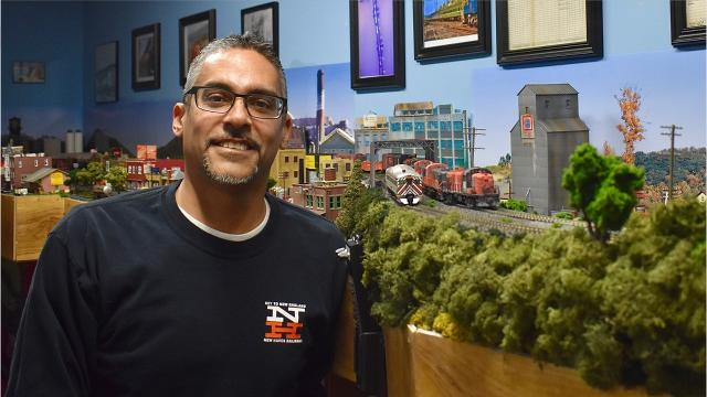 Model train enthusiast and Amtrak engineer David Todd Magill has recreated the former New Haven Railroad line from the late 1950s and early '60s in the basement of his Selkirk home. Video by Barbara Gallo Farrell/Poughkeepsie Journal
