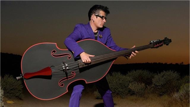 Lee Rocker of The Stray Cats is set to perform at Helsinki Hudson on Feb. 10. Video by John W. Barry/Poughkeepsie Journal