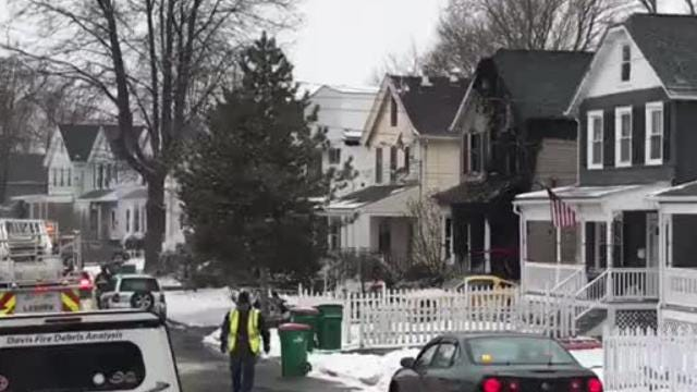 """A structure fire was reported on Rombout Avenue in the City of Beacon at around 4:45 a.m. on Friday. Three people are being treated for """"life-threatening"""" burns following the fire, according to Chief Gary Van Voorhis. Video by Patrick Oehler/Poughkeepsie Journal"""