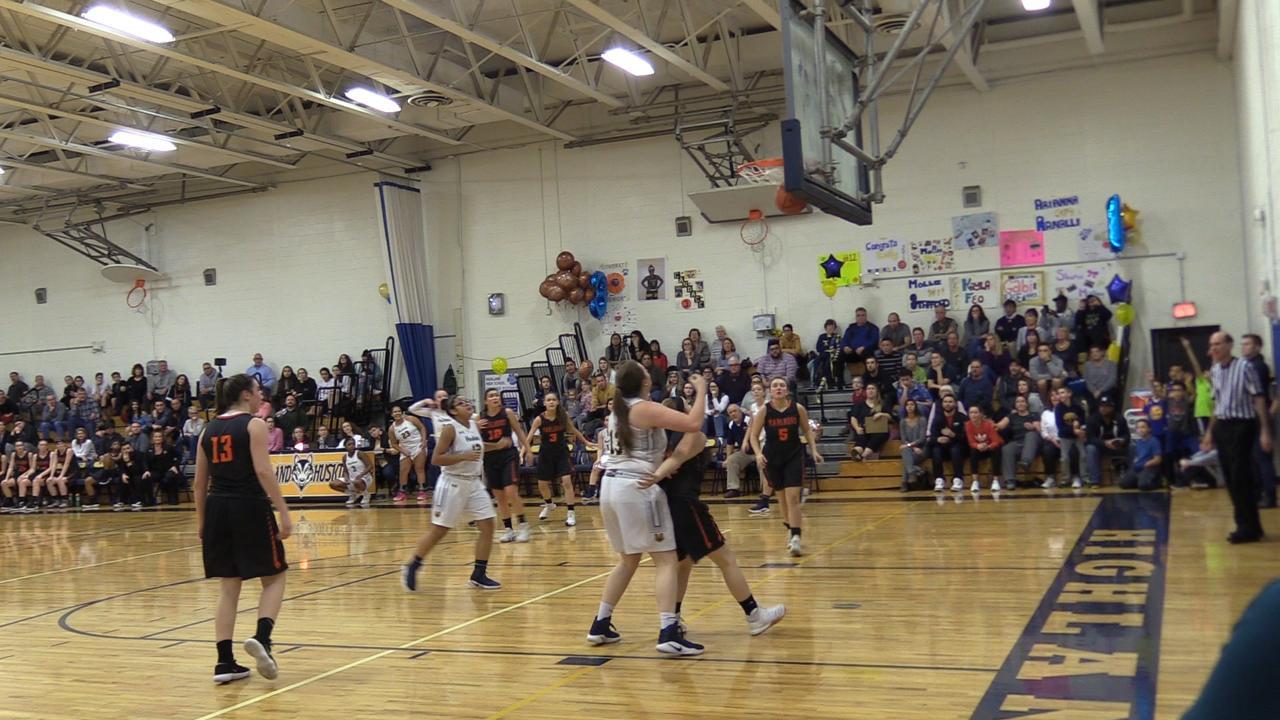 Highland girls basketball top Marlboro 63-40 during Thursday's game at Highland.
