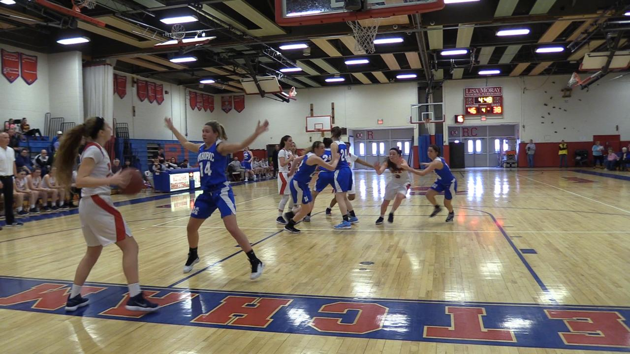Roy C. Ketcham girls basketball hosts Mahopac in Saturday's matchup.  Ketcham topped Mahopac 56-49.