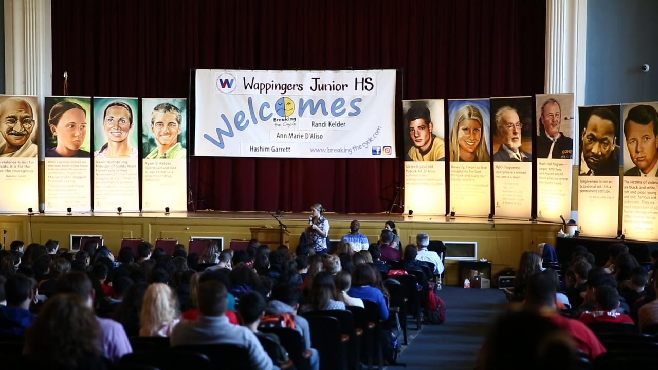 Wappingers Falls Junior High School held a Breaking the Cycle assembly on Tuesday.