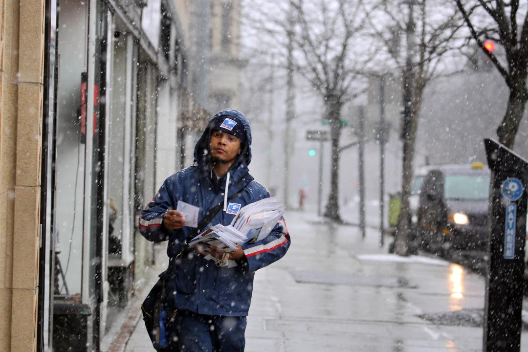 Video: Delivering the mail through heavy snow