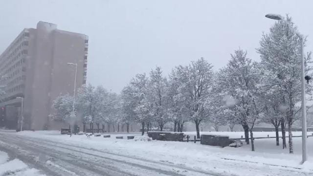 Video: Mid-afternoon snow in Dutchess County