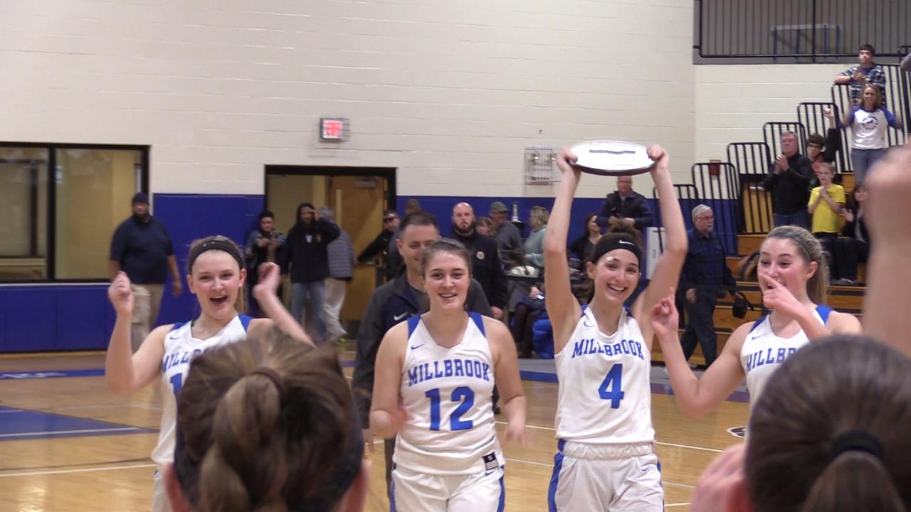 Millbrook girls basketball defeat East Rockaway in the Class C Regional Championship to advance to the New York State final four.