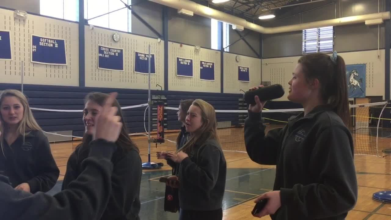 Students lined the halls, and parents and community members gathered to wish the Millbrook High School girls basketball team farewell as it departs for its trip to Troy for the state semifinals.