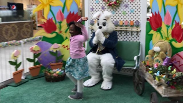 "The annual event at the Poughkeepsie Galleria is ""sensory friendly,"" with no music playing or long lines. Kids with learning disabilities such as Down syndrome and autism got the chance to pose with the Easter bunny. Jack Howland/Poughkeepsie Journal"