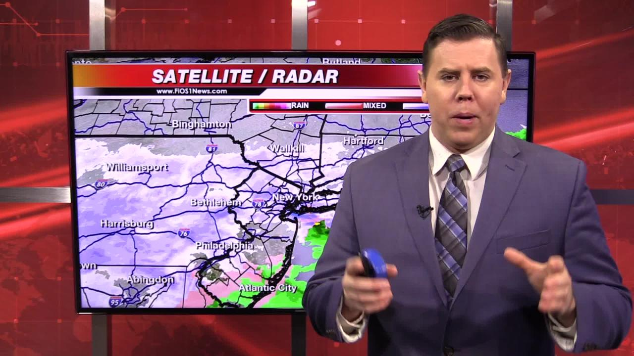 Brian Fitzgerald, the chief meteorologist with FIOS1 News, gives a Wednesday weather update for the Mid-Hudson Valley.