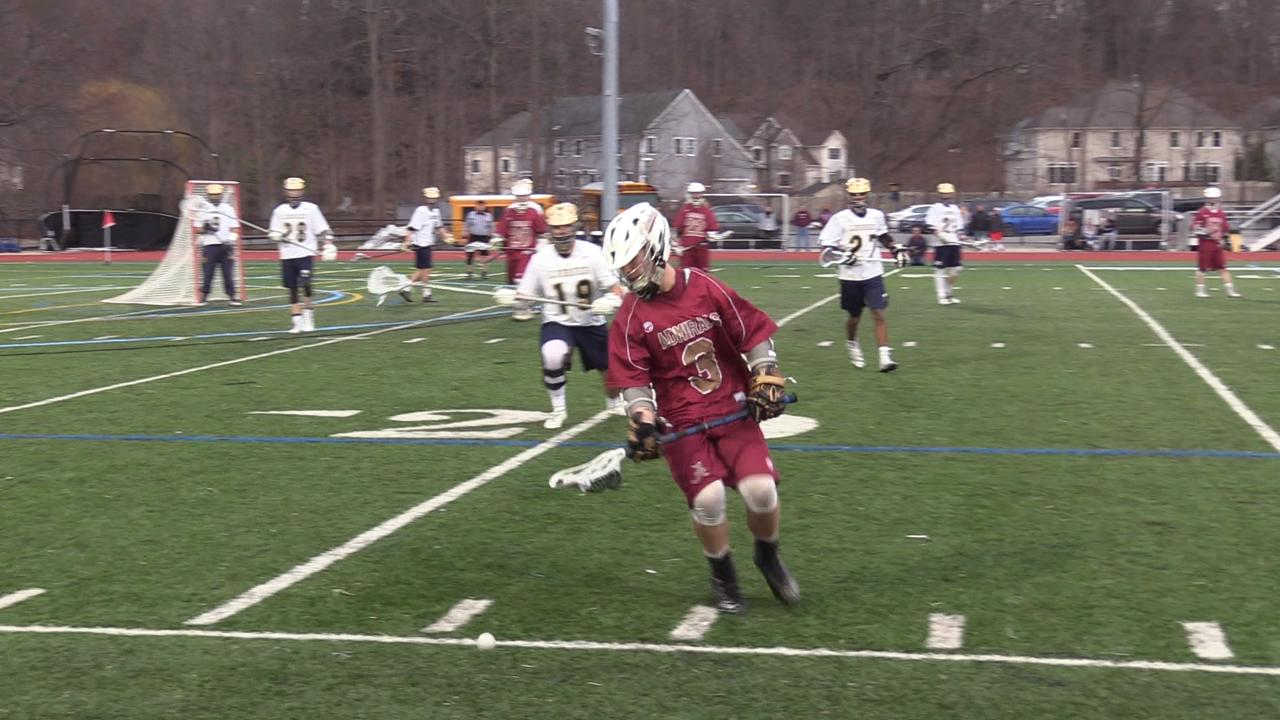 Arlington boys lacrosse topped host, Lourdes in Wednesday's matchup.