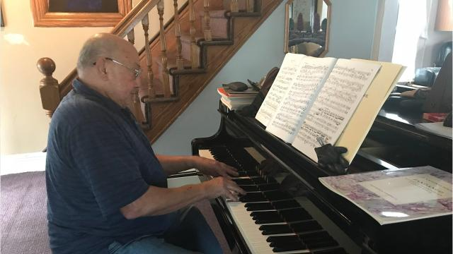 Rudy Godoy, 72, is a Vietnam Veteran who graduated from Julliard. His passion is playing the piano. Video by Amy Wu/Poughkeepsie Journal