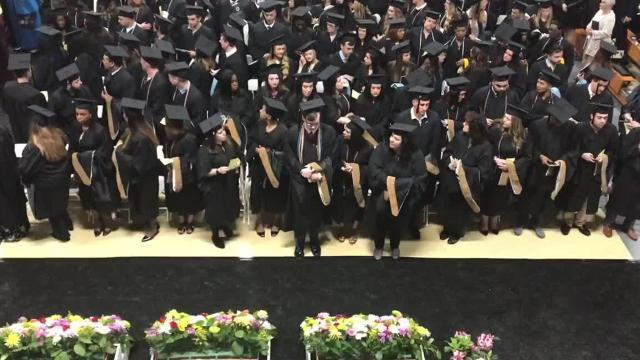 The procession from Mount Saint Mary College's 55th annual commencement ceremony Saturday. Video by Geoffrey Wilson/Poughkeepsie Journal