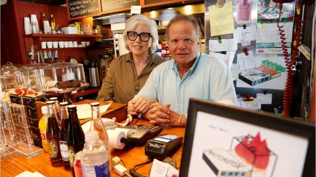 Husband-and-wife Joann and Sam Cohen run this charming roadside cafe in Rhinebeck, NY