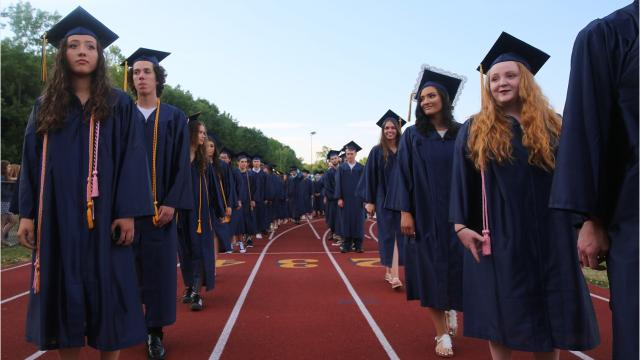 Highland High School held its graduation ceremony on Thursday night. Students spoke with the Journal, describing how they felt to be graduating. Video by Jack Howland/Poughkeepsie Journal