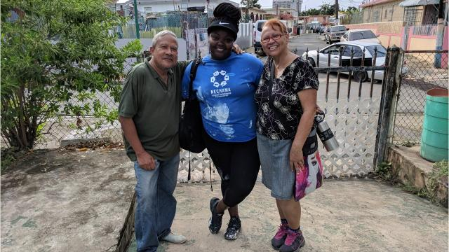 Poughkeepsie resident Amena-Devine Ruffin was one of 29 SUNY students who spent July 15-28 in Puerto Rico repairing homes.