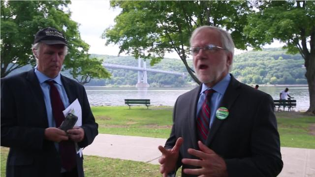 Howie Hawkins, the Syracuse-based gubernatorial candidate, and Mark Dunlea, the Rensselaer County-based comptroller candidate, are running on what they say is a progressive platform with a focus on combating climate change. They described their hopes for the election during a visit in the City of Poughkeepsie. Video by Jack Howland/Poughkeepsie Journal