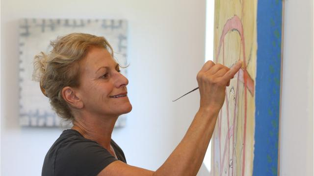 When it comes to her art, painter and Marist College professor Donise English draws inspiration from working and being in the moment. Video by Barbara Gallo Farrell/Poughkeepsie Journal