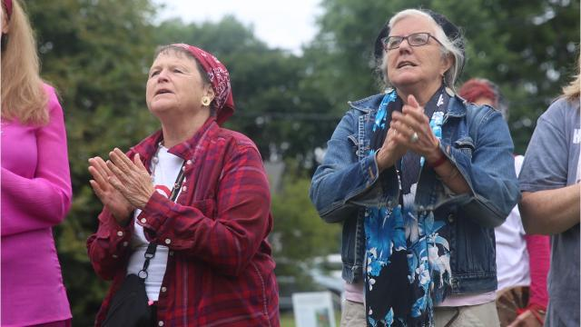 Crowds of community members poured into a field next to Crafted Kup in the Town of Poughkeepsie for a Rise for Climate event on Saturday. The rally was one of hundreds taking place around the world. Video by Jack Howland/Poughkeepsie Journal