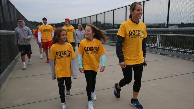Morgan Zuch, a 20-year-old Marist College junior, hosted a walk on Sunday to raise awareness for the Morgan Center, the Long Island preschool for kids with cancer that her mother started in her honor. Morgan battled leukemia when she was a kid. Video by Jack Howland/Poughkeepsie Journal