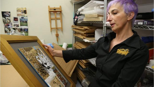 Artist Paola Bari brings images of big cats to life in her detailed paintings on porcelain. She works with the Cheetah Conservation Fund to protect the big cats from extinction by donating her art. Video by Barbara Gallo Farrell/Poughkeepsie Journal