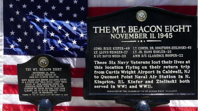 It's been 73 years since a group of six Navy men and two service mendied in two separate crashes in 1935 and 1945 on Mount Beacon