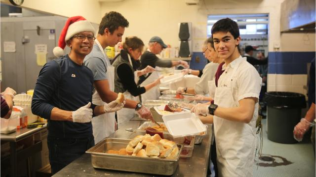 More than 500 people received a free meal on Christmas as a result of the annual Eileen Hickey Holiday Dinner. Many people had deliveries come to their home, and some came to the Family Partnership Center in the City of Poughkeepsie to enjoy a meal with other community members. Video by Jack Howland/Poughkeepsie Journal