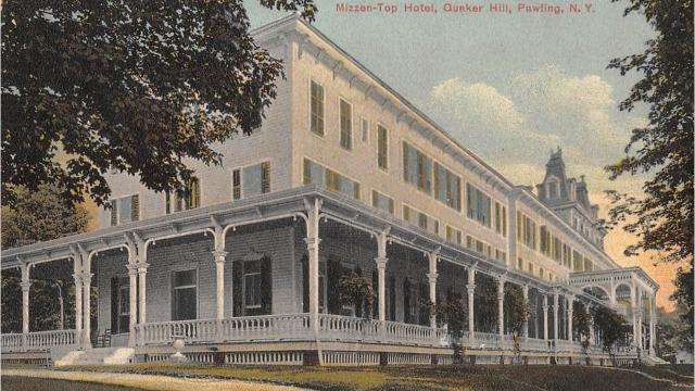 The Mizzen-Top Hotel once stood atop Quaker Hill in Pawling. Financed by one of Pawling's most successful businessman, Albert J. Akin, it opened in 1881 and had 145 rooms. Video by Barbara Gallo Farrell/Poughkeepsie Journal