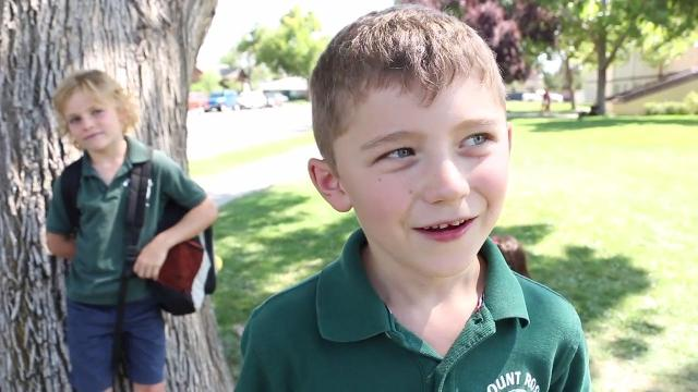 Watch: Mount Rose Elementary School kids talk about their first week back in class