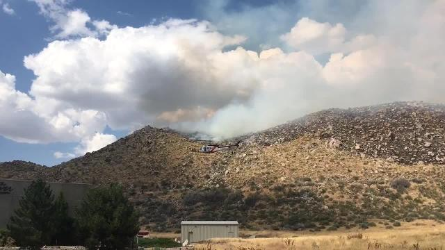 Watch: Fire crews attack the Mogul Fire in northwest Reno
