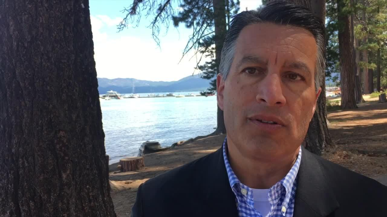 Republican Gov. Brian Sandoval of Nevada discusses GOP policy on climate change and the review of national monuments by Interior Secretary Ryan Zinke and President Donald Trump. Interview conducted Aug. 22, 2017 in South Lake Tahoe, Calif.