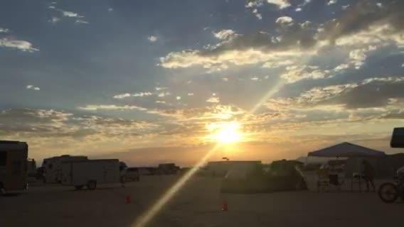 Burning Man: Watch sunrise, rainbow greet early burners