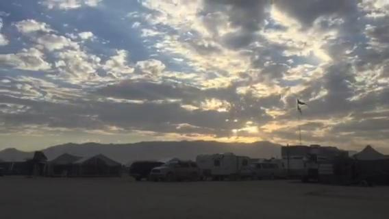 Watch the sun go down over the playa on a Sunday night in 2017.