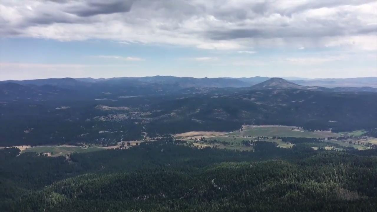 The view from Mills Peak near Graeagle, Calif., is stunning. Video shows view to east of Mohawk Valley to the east. There's also glimpse of the Sierra Buttes, still holding snow in late August, to the southwest. Graeagle is about 60 miles from Reno.