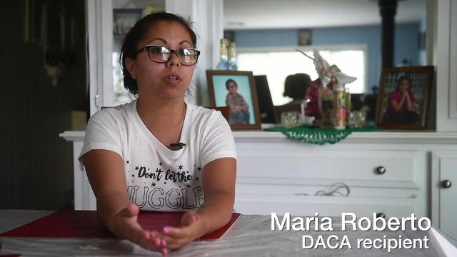 Watch: DACA recipient reacts to program being rescinded