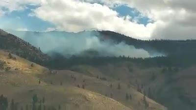 Raw video: Another view of Woodchuck Fire west of Reno
