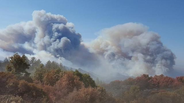 From Oct. 9, 2017: Buildings in California's Napa and Sonoma counties were being evacuated after multiple wildfires began spreading throughout the area with a thick smoke and large flames.
