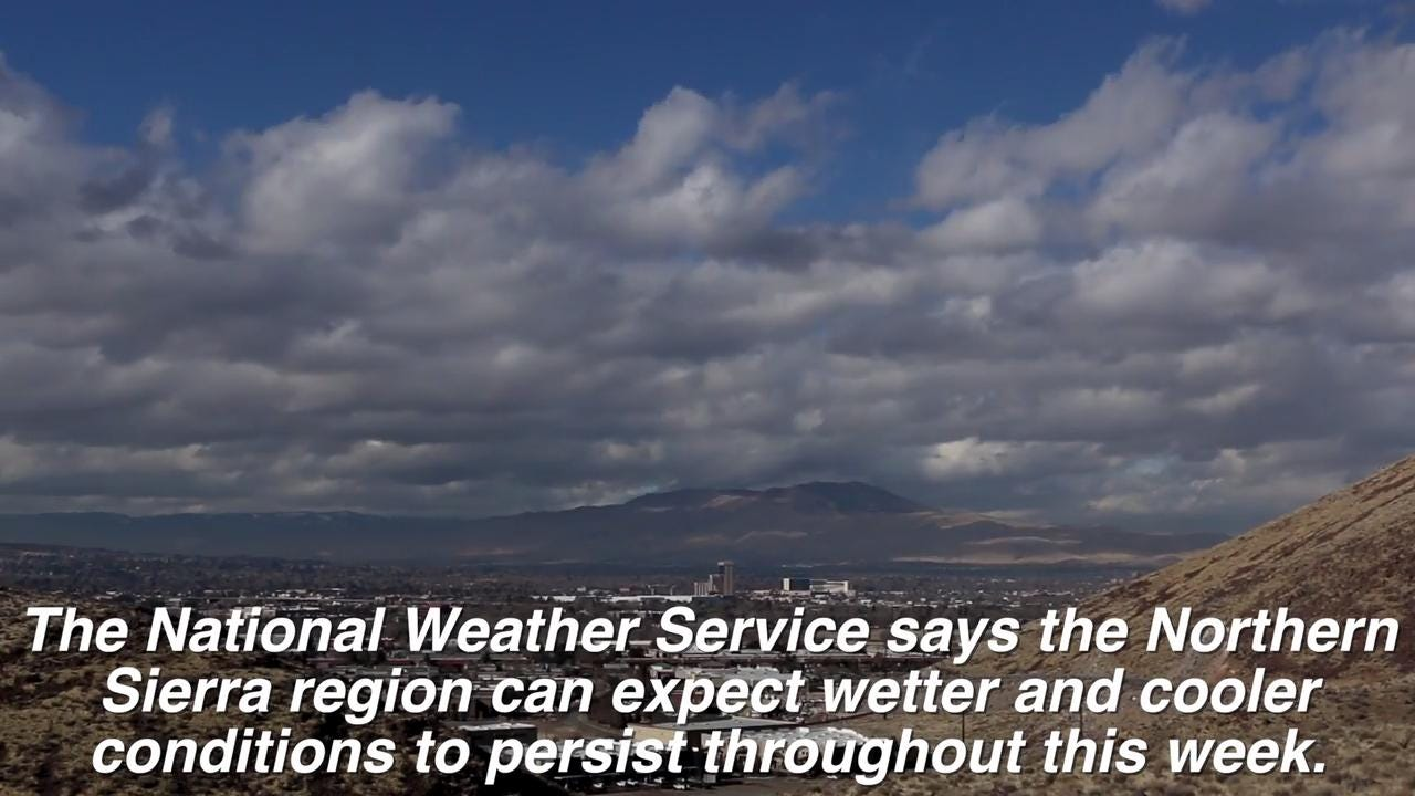 See a time lapse view of weather moving over the Reno-Sparks and Northern Sierra region.