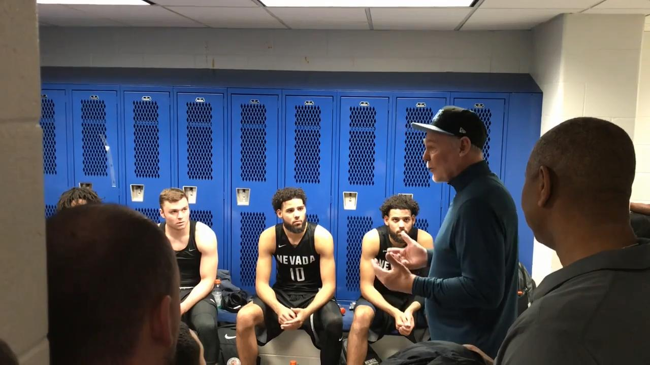 The coaching legend, who ranks fifth in NBA history in career wins, stopped by Nevada's locker room after the Wolf Pack's win at Air Force.