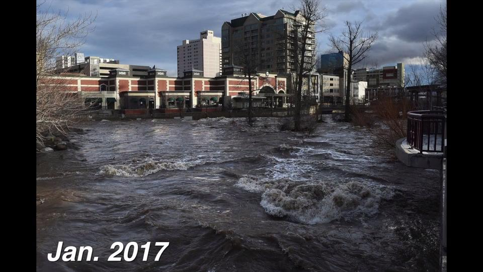 Take a look back at the flood of 2017 and compare what it looks like to the region this month.