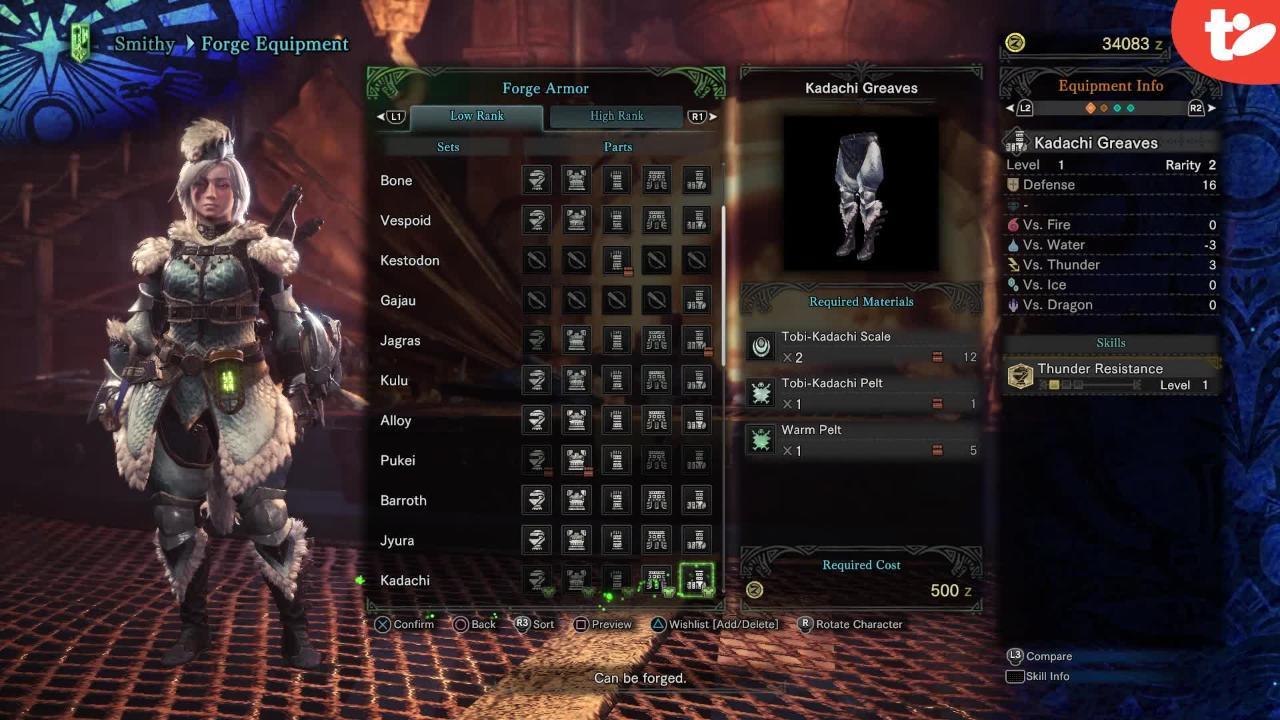 Monster Hunter World: Female Low-Rank Armor Sets | Technobubble